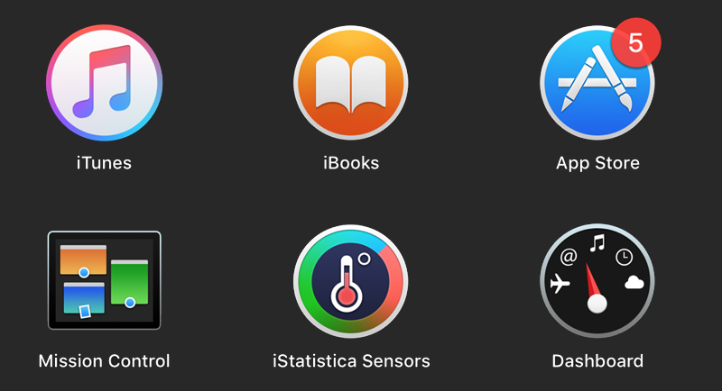 iStatistica mac system monitor Sensors Plug-in in Launchpad