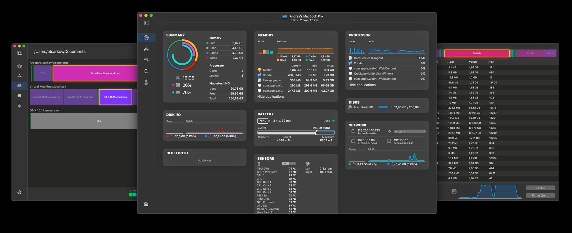 iStatistica system monitor widget osx